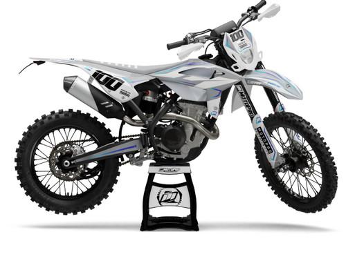 MotoPro Graphics BETA Dirt Bike MAGNETIC WHITE Series Graphics Set