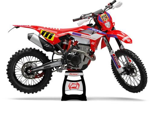 MotoPro Graphics BETA Dirt Bike TESA RED Series Graphics Set