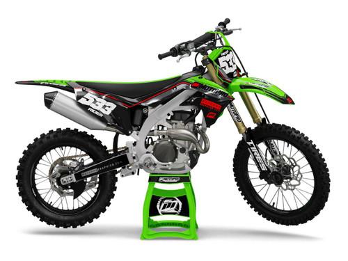MotoPro Graphics Kawasaki Dirt Bike TRIPLE J Series Graphics