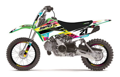 MotoPro Graphics Kawasaki KLX110 Pit Bike ISLANDER Series Graphics