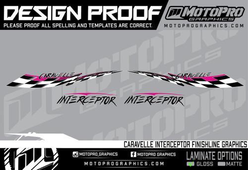 MotoPro Graphics Caravelle Interceptor Finishline Graphics - Islander Pink