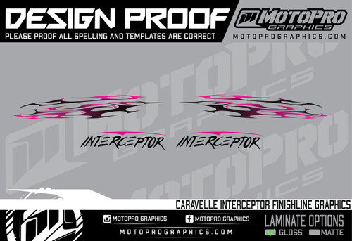 MotoPro Graphics Caravelle Interceptor Tribal Graphics - Islander Pink