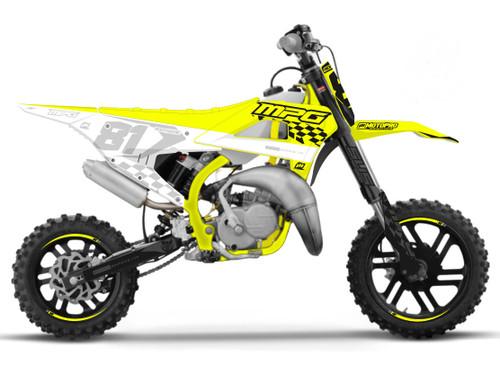 MotoPro Graphics Cobra Dirt Bike FINISHLINE YELLOW GREY Series Graphics Set