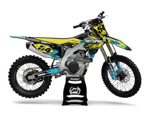 MotoPro Graphics Suzuki Dirt Bike BLITZ YELLOW Series Graphics