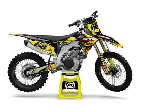 MotoPro Graphics Suzuki Dirt Bike HVZ Series Graphics