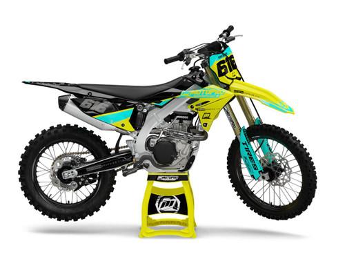 MotoPro Graphics Suzuki Dirt Bike THROWBACK Series Graphics