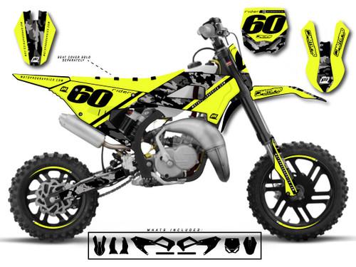MotoPro Graphics Cobra Dirt Bike DOPER YELLOW Graphics Set