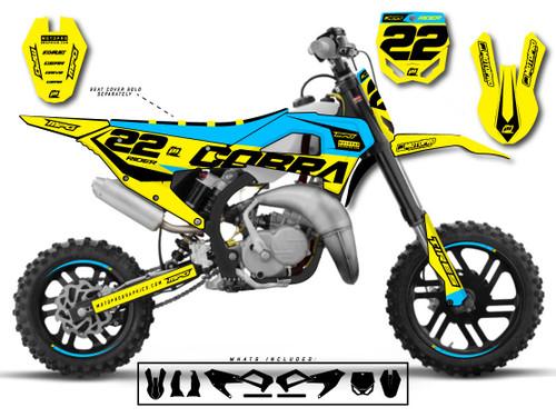 MotoPro Graphics Cobra Dirt Bike STELLA BLUE Graphics Set