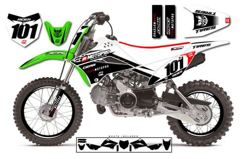 MotoPro Graphics Custom Kawasaki KLX110 Pit Bike GENESIS Series Graphics - FREE SHIPPING