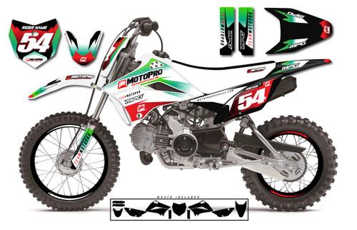 MotoPro Graphics Custom Kawasaki KLX110 Pit Bike INSIDE Series Graphics - FREE SHIPPING