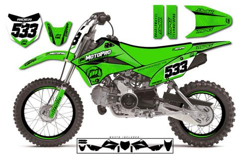MotoPro Graphics Custom Kawasaki KLX110 Pit Bike OSHEE Series Graphics - FREE SHIPPING