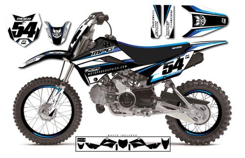 MotoPro Graphics Custom Kawasaki KLX110 Pit Bike SHOT Series Graphics - FREE SHIPPING