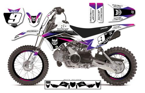 MotoPro Graphics Custom Kawasaki KLX110 Pit Bike SIENNA WHITE Series Graphics - FREE SHIPPING