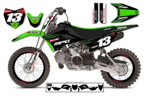 MotoPro Graphics Custom Kawasaki KLX110 Pit Bike STEALTH 2.0 Series Graphics - FREE SHIPPING
