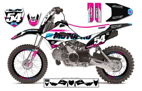 MotoPro Graphics Custom Kawasaki KLX110 Pit Bike SWATCHER Series Graphics - FREE SHIPPING