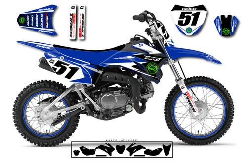 MotoPro Graphics Custom Yamaha TTR110 Pit Bike BAM BAM Series Graphics - FREE SHIPPING