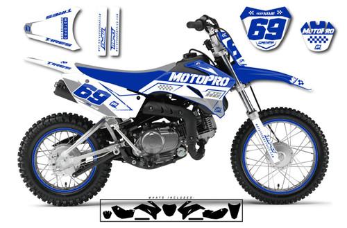 MotoPro Graphics Custom Yamaha TTR110 Pit Bike BOOST BLUE Series Graphics - FREE SHIPPING