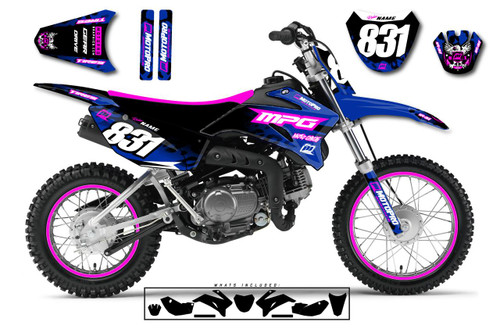 MotoPro Graphics Custom Yamaha TTR110 Pit Bike CHEETAH Series Graphics - FREE SHIPPING