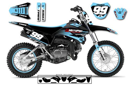 MotoPro Graphics Custom Yamaha TTR110 Pit Bike ENZO Series Graphics - FREE SHIPPING