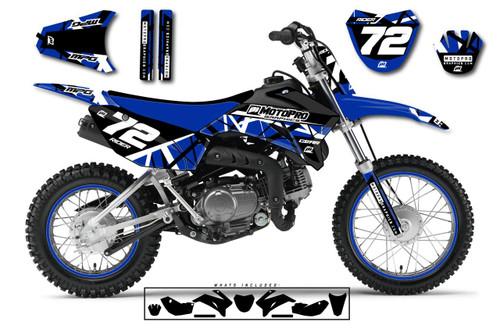 MotoPro Graphics Custom Yamaha TTR110 Pit Bike ERUPTION Series Graphics - FREE SHIPPING