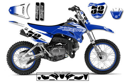 MotoPro Graphics Custom Yamaha TTR110 Pit Bike FAST BLUE Series Graphics - FREE SHIPPING