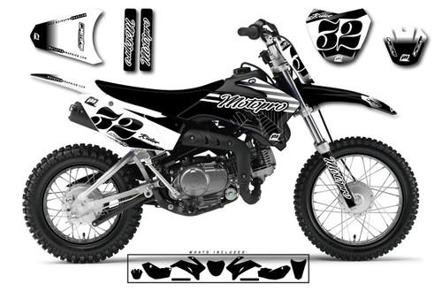 MotoPro Graphics Custom Yamaha TTR110 Pit Bike FAST BLACK Series Graphics - FREE SHIPPING