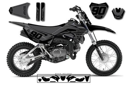 MotoPro Graphics Custom Yamaha TTR110 Pit Bike HEET BLACK Series Graphics - FREE SHIPPING