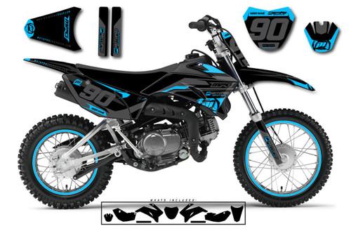 MotoPro Graphics Custom Yamaha TTR110 Pit Bike HEET CYAN Series Graphics - FREE SHIPPING