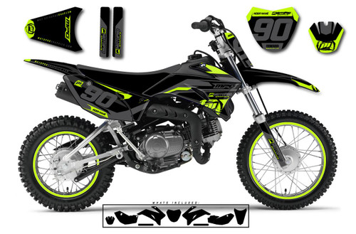 MotoPro Graphics Custom Yamaha TTR110 Pit Bike HEET YELLOW Series Graphics - FREE SHIPPING