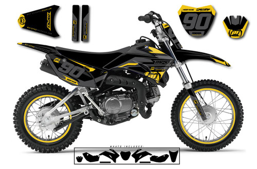 MotoPro Graphics Custom Yamaha TTR110 Pit Bike HEET MUSTARD Series Graphics - FREE SHIPPING