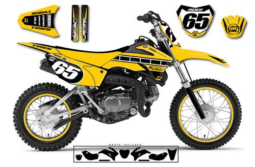 MotoPro Graphics Custom Yamaha TTR110 Pit Bike HURRICANE Series Graphics - FREE SHIPPING