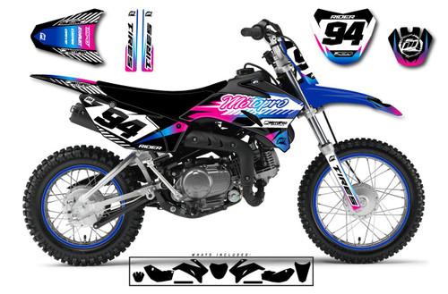 MotoPro Graphics Yamaha TTR110 Pit Bike KORN Series Graphics - FREE SHIPPING