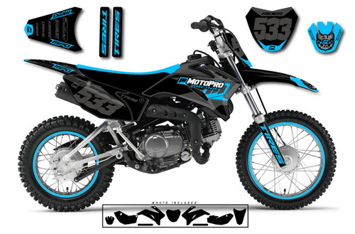 MotoPro Graphics Yamaha TTR110 Pit Bike NASHVILLE Series Graphics - FREE SHIPPING