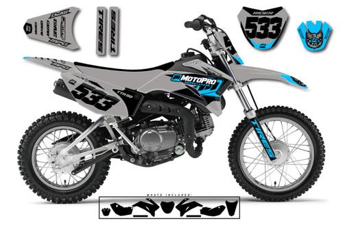 MotoPro Graphics Yamaha TTR110 Pit Bike NASHVILLE GREY Series Graphics - FREE SHIPPING