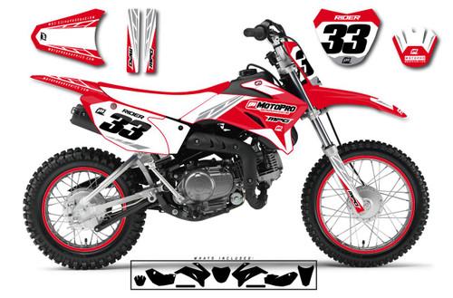 MotoPro Graphics Yamaha TTR110 Pit Bike TREK RED Series Graphics - FREE SHIPPING