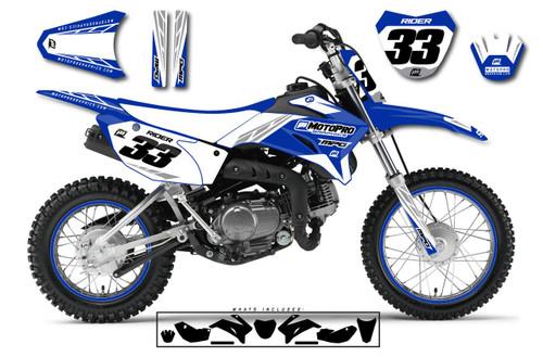 MotoPro Graphics Yamaha TTR110 Pit Bike TREK BLUE Series Graphics - FREE SHIPPING