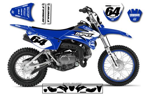 MotoPro Graphics Yamaha TTR110 Pit Bike NEXT BLUE Series Graphics - FREE SHIPPING