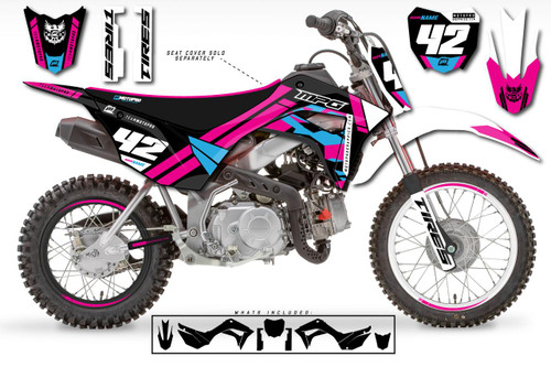 MotoPro Graphics Custom Honda CRF110 Pit Bike PINKER Series Graphics - FREE SHIPPING