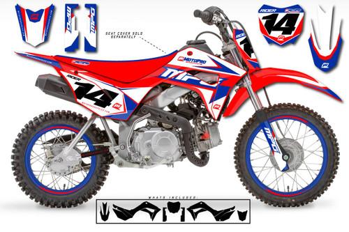 MotoPro Graphics Custom Honda CRF110 Pit Bike ALL STAR Series Graphics - FREE SHIPPING