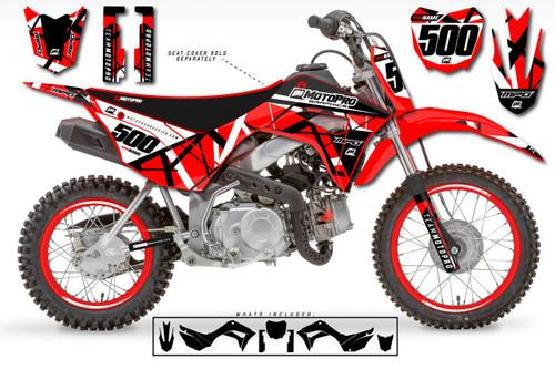 MotoPro Graphics Custom Honda CRF110 Pit Bike ERUPTION Series Graphics - FREE SHIPPING