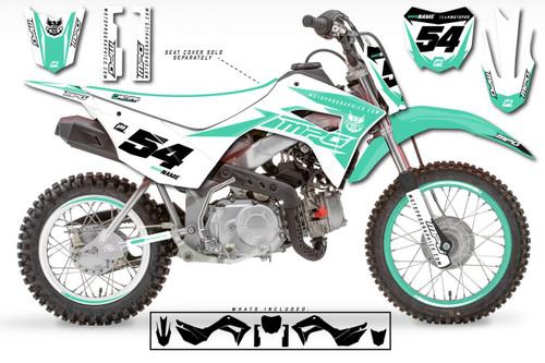 MotoPro Graphics Custom Honda CRF110 Pit Bike GAMMA AQUA Series Graphics - FREE SHIPPING