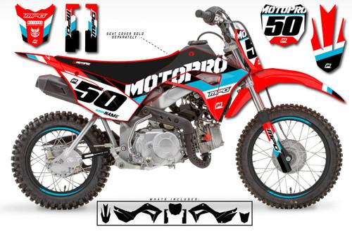 MotoPro Graphics Custom Honda CRF110 Pit Bike GP Series Graphics - FREE SHIPPING