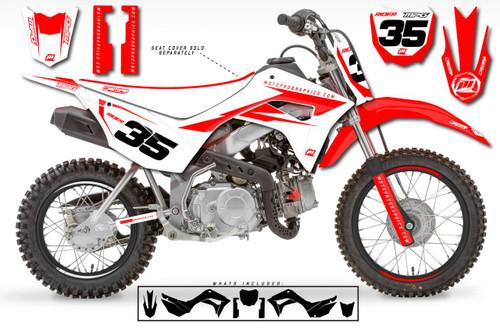 MotoPro Graphics Custom Honda CRF110 Pit Bike LEADER Series Graphics - FREE SHIPPING