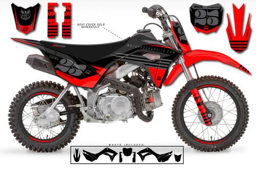 MotoPro Graphics Custom Honda CRF110 Pit Bike RIOT Series Graphics - FREE SHIPPING