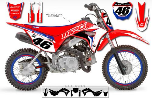 MotoPro Graphics Custom Honda CRF110 Pit Bike STAR Series Graphics - FREE SHIPPING