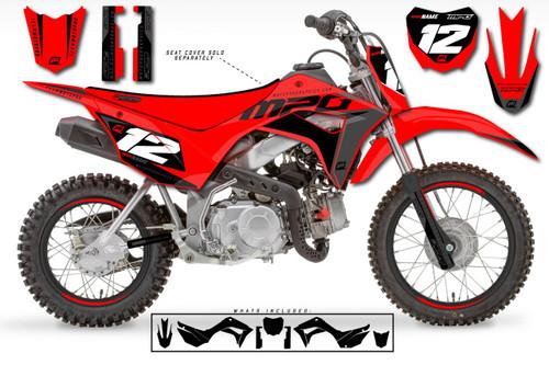 MotoPro Graphics Custom Honda CRF110 Pit Bike WURX Series Graphics - FREE SHIPPING