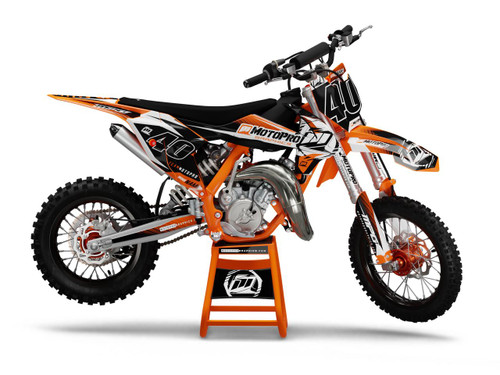 MotoPro Graphics Custom KTM 85 SX Dirt Bike QUICK ORANGE Series Graphics Set - FREE SHIPPING