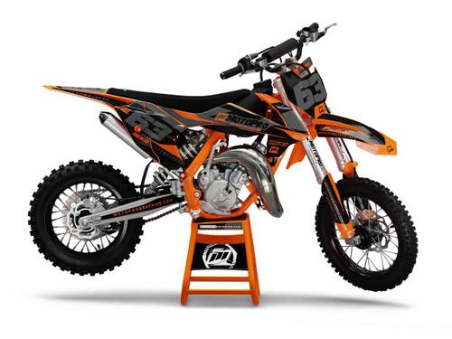 MotoPro Graphics Custom KTM 85 SX Dirt Bike ENIGMA ORANGE Series Graphics Set - FREE SHIPPING