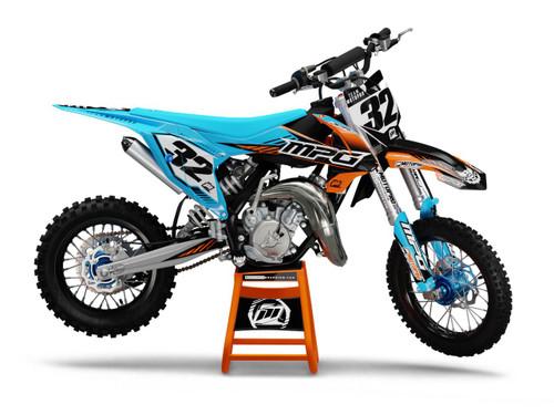 MotoPro Graphics Custom KTM 85 SX Dirt Bike MATRIX CYAN Series Graphics Set - FREE SHIPPING
