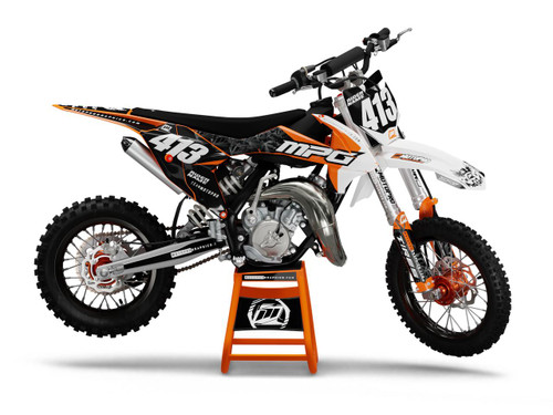 MotoPro Graphics Custom KTM 85 SX Dirt Bike GAMMA SHADOW Series Graphics Set - FREE SHIPPING